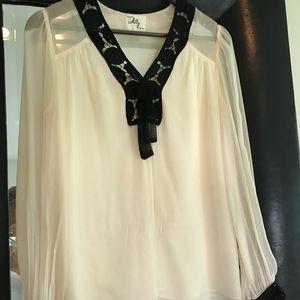 Beautiful 100% Silk, Size 2 Milly Blouse